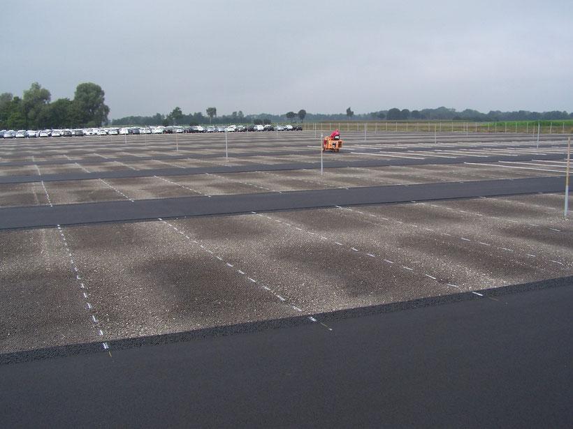Vormarkierung Großraumparkplatz