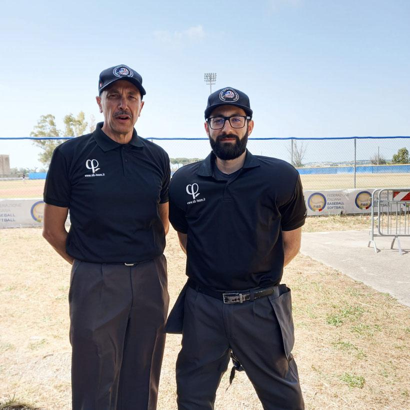 Gli umpire Mauro Lezzi e Antonio Raia