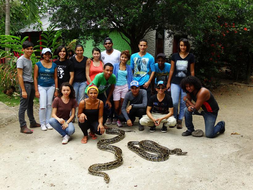 Estudiantes de Herpetología Básica (2015-1)