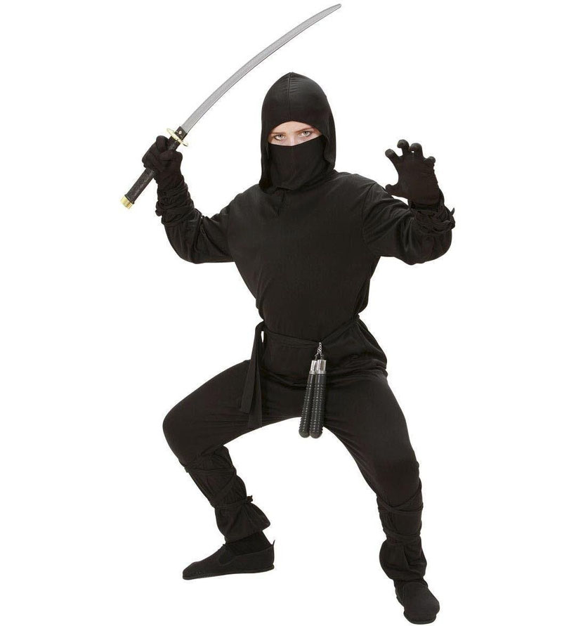 Widmann, Costume da Guerriero Ninja, ninja, guerriero, costume di carnevale, costume nero,