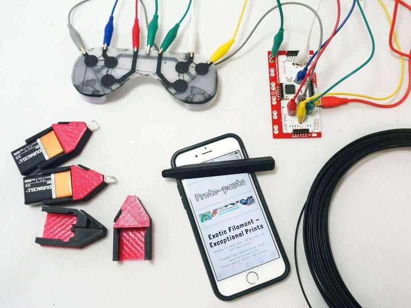 Filamento 3D Conductivo