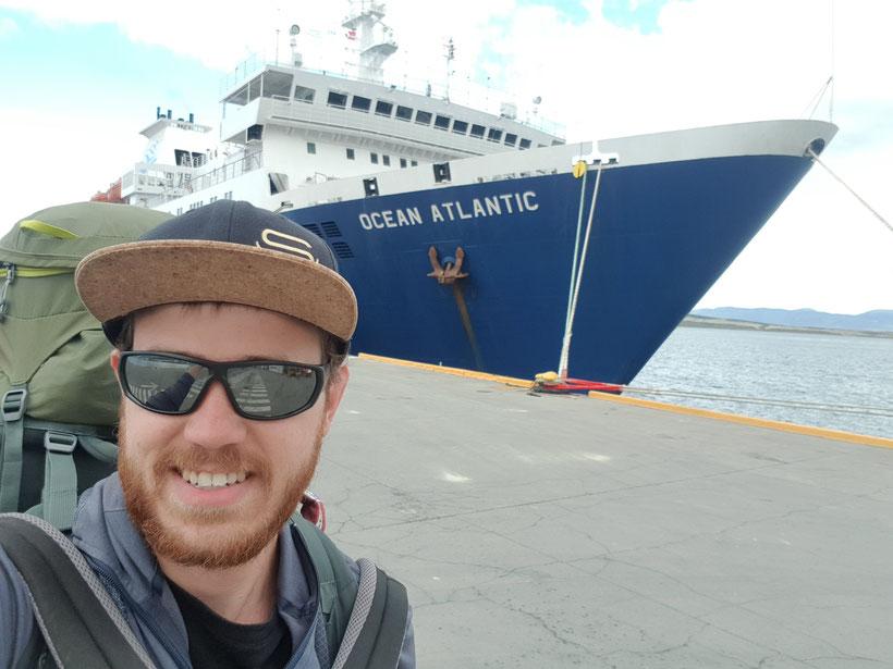 Mit der Ocean Atlantic startete ich mein Abenteuer in die Antarktis