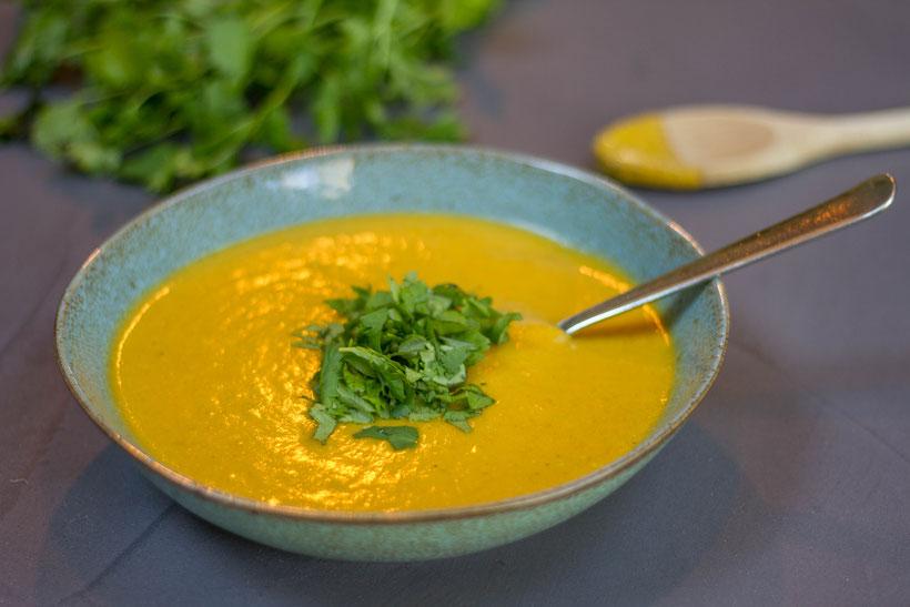 Creamy Moroccan spiced pumpkin soup