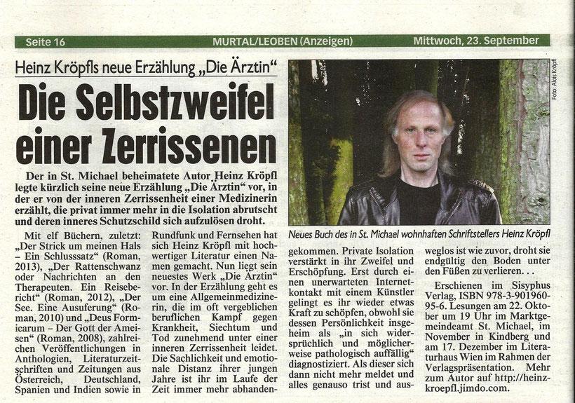 Heinz Kröpfl hat sich mit hochwertiger Literatur einen Namen gemacht