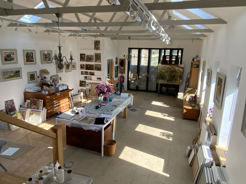My studio in Lincolnshire - to arrange a visit please contact me