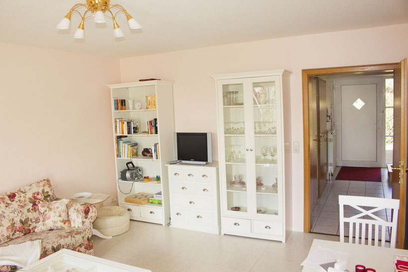 Unser gemütliches Wohnzimmer, Ferienhaus Gretchen, Rollstuhlgerecht, Nordsee, NOK, Urlaub