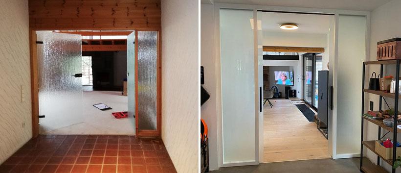 Komplettrenovierung eines Hauses mit Einliegerwohnung im Oberbergischen – Eingang