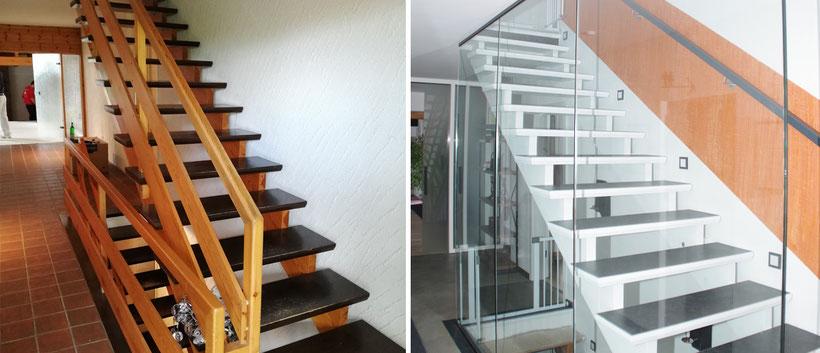 Komplettrenovierung eines Hauses mit Einliegerwohnung im Oberbergischen – Treppenhaus