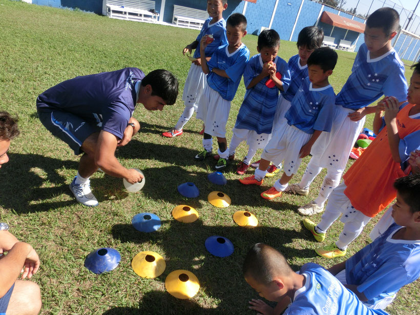 ブラジル遠征2015コーチからの指導
