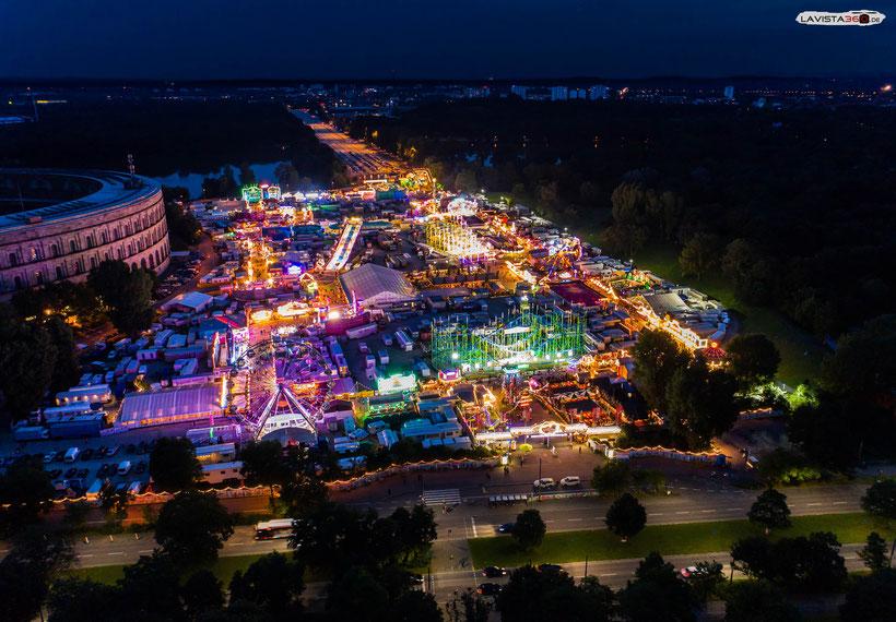 Nürnberger Volksfest Luftaufnahme