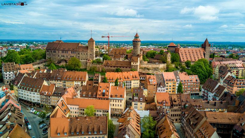 Luftbilder Drohnenbilder Nürnberg Burg Kaiserburg