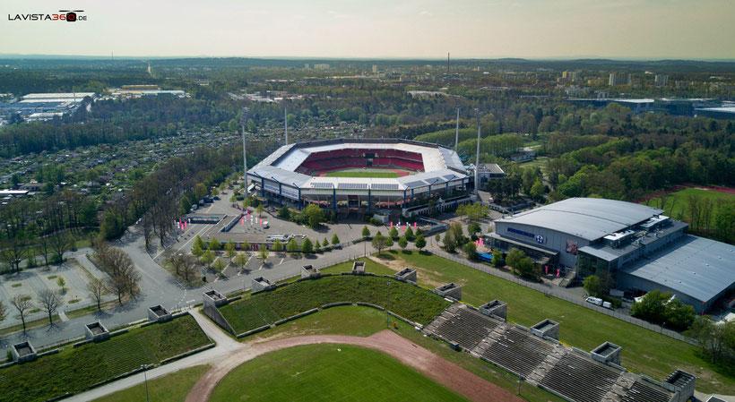 Luftbilder Drohnenbilder Nürnberg Stadion Eisstadion