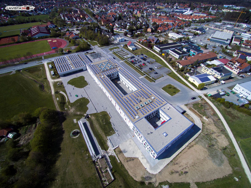 Luftbilder Drohnenbilder Wendelstein Gymnasium