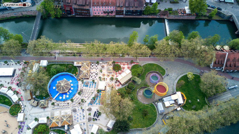 Luftbilder Drohnenbilder Nürnberg Stadtstrand Insel Schütt