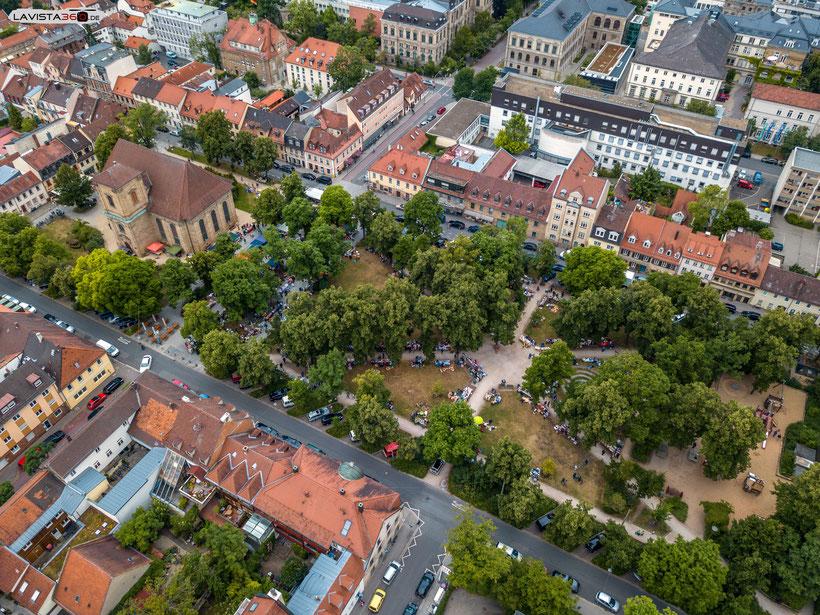 Luftbilder Drohnenbilder Erlangen Flohmarkt