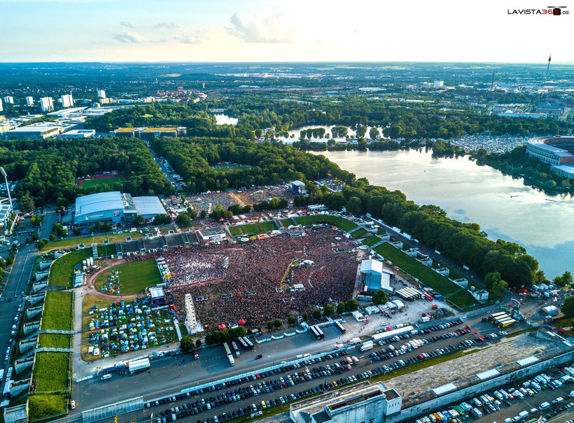 Luftbilder Drohnenbilder Rock im Park RIP 2017 Nürnberg