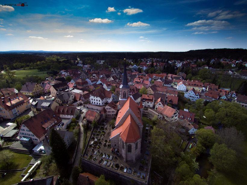 Luftbilder Drohnenbilder Wendelstein Kirche