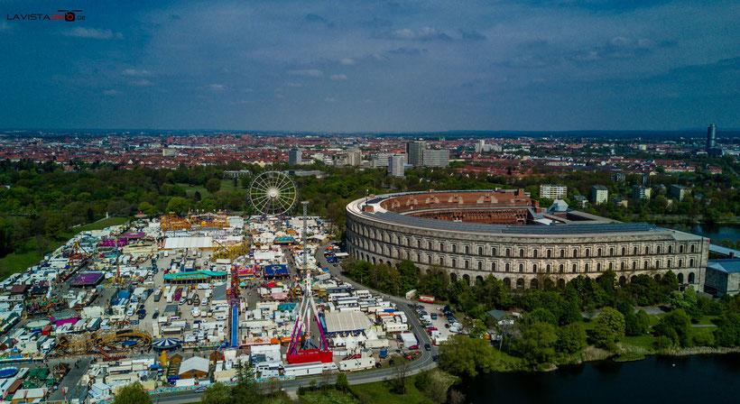 Luftbilder Drohnenbilder Nürnberg Volksfest Volksfestplatz