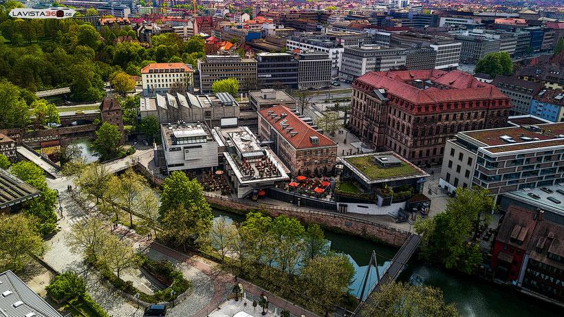 Luftbilder Drohnenbilder Nürnberg Altstadt Gewerbemuseum Cinecitta