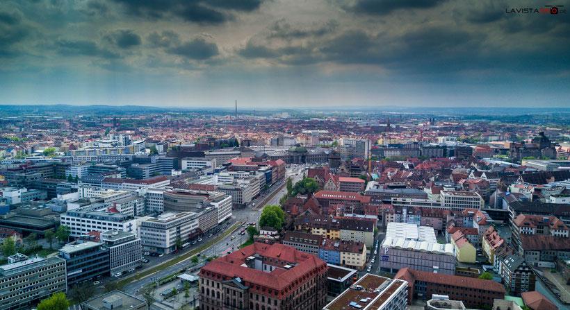 Luftbilder Drohnenbilder Nürnberg Hauptbahnhof
