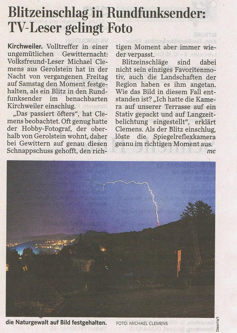 Auszug aus dem Trierischen Volksfreund vom 02.08.2013, Interview mit Miguel Castro.