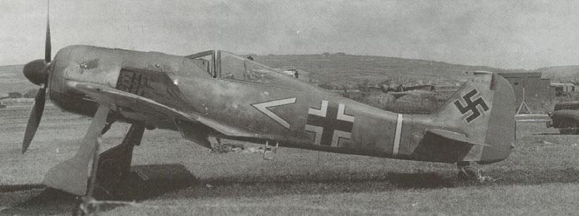 L'aereo di Armin Faber subito dopo la cattura.