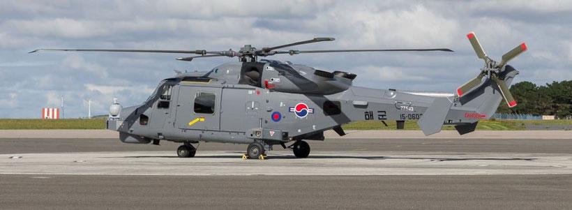 """AW159 """"Wildcat"""" uno dei primi elicotteri destinati alla Corea del Sud durante i test a Yeovil (GB) si nota la doppia immatricolazione coreana e inglese. / © Kyle Greet 2015."""