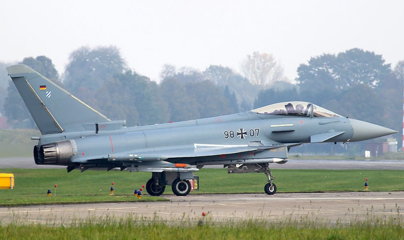 L'esemplare IPA7 munito delle LERX in fase di decollo / © Munich Aviation Spotters