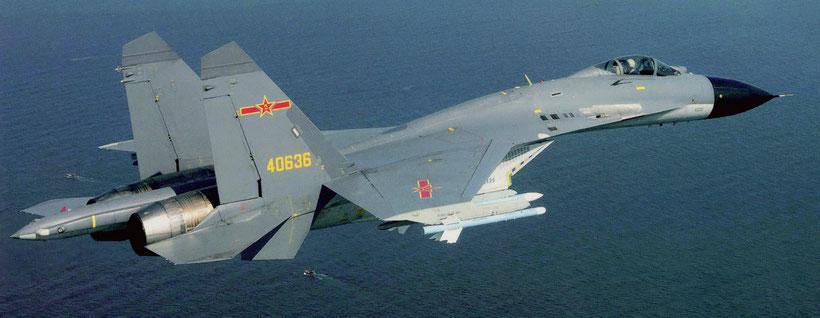 """Shenyang J-15 """"Feisha"""" della marina cinese"""