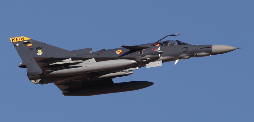 IAI Kfir Block 60 della Fuerza Aérea Colombiana. / © USAF