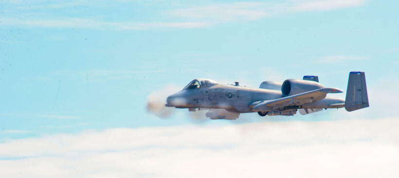 Il cannone GAU-8 Avenger in azione / © USAF