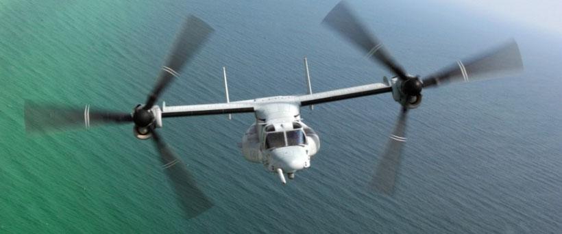 la possibilità di essere rifornito in volo è un grosso vantaggio per il V-22 / © Bell-Boeing