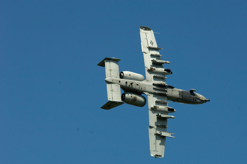 La notevole capacità di carico è senza ombra di dubbio una prerogativa dell'A-10 un vero e proprio carro armato volante / © USAF