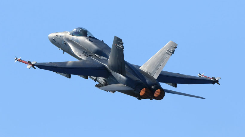 Boeing F-18 Hornet finlandese. (foto: Finnish Defence Forces)