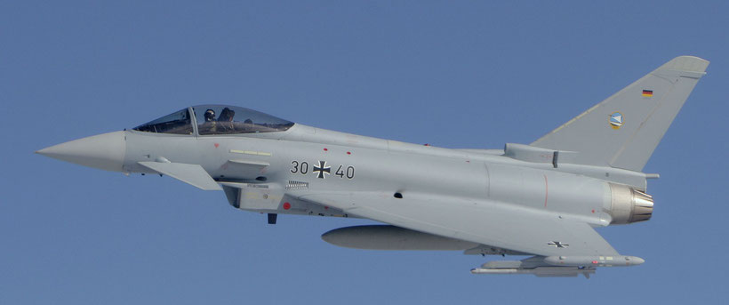 Un Eurofighter Typhoon dello JG-74 della Luftwaffe / © Stefan Gygas