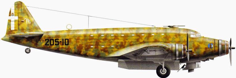 Altro esemplare di Savoia - Marchetti SM82 41° Gruppo BT che partecipò al raid su Manama