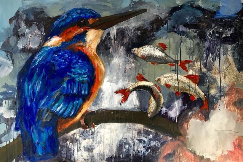 Martin Fischer. Acryl auf Leinwand, 100 x 150 cm, 2019.