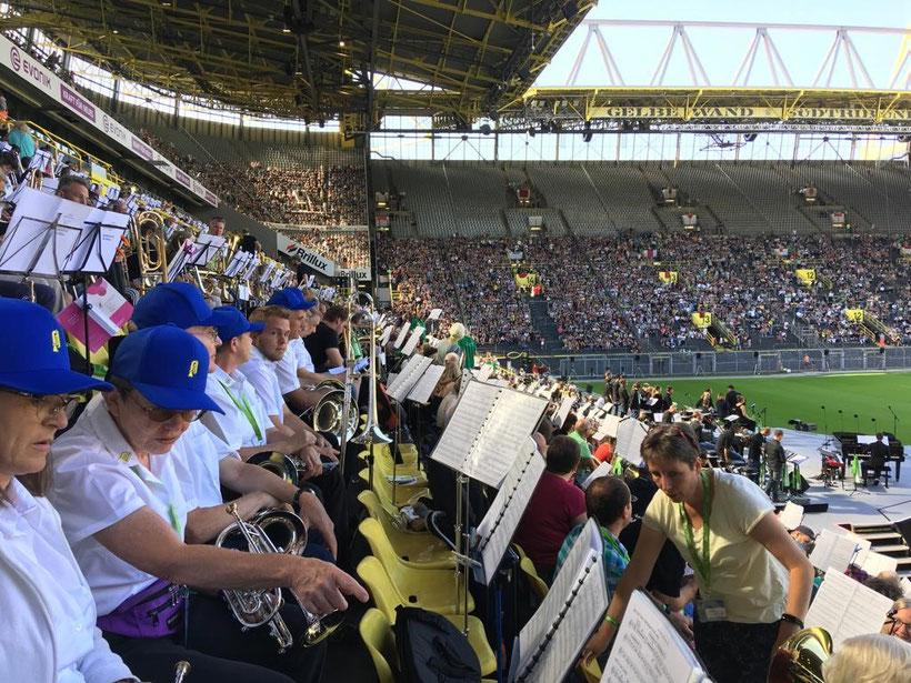 Abschlussgottesdienst im Heimstadion von Borussia Dortmund