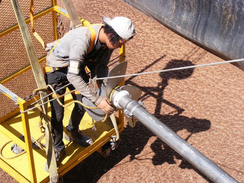 Agitador para biodigestor - residuos de extracción de aceite de aguacate