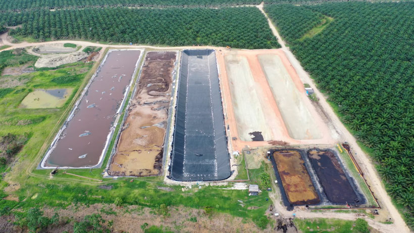 Biodigestor para aguas residuales aceite de palma africana POME - Aqualimpia Engineering