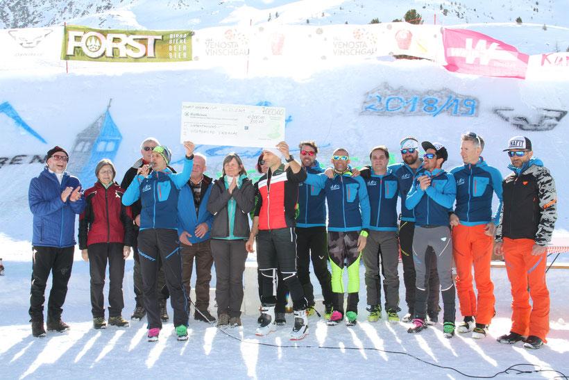 7000 Euro konnten wir an die Südtiroler Krebshilfe spenden, DANK aller Teilnehmer