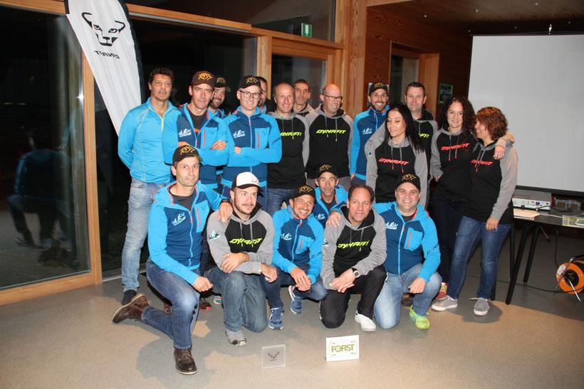 OK-Team mit Helfern und Liftbetreibern