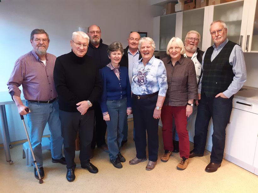 Seniorenbeirat Stadt Bad Kreuznach 2020: Vorsitzende Suzann Kompalla (4.v.l), Herr Gernot Bach hinten (3.v.l.) Foto Dirk Basmer.