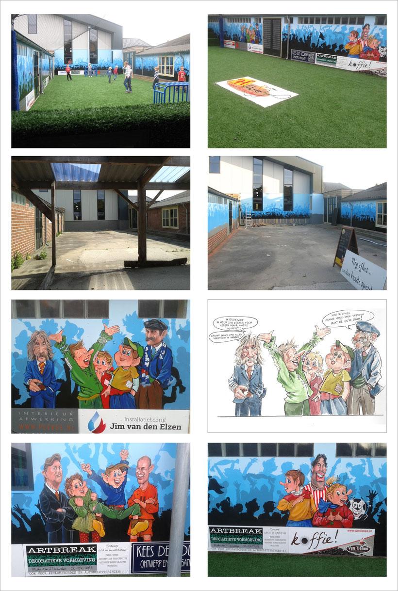 www.artbreak-uden.com www.artbreak-uden.nu www.artbreak-uden.nl Mieke van Rosmalen Decoreren van Hullie voetbalveld