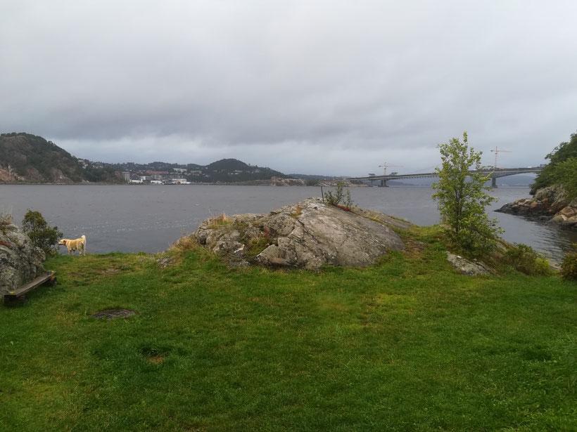 Unser dritter Schlafplatz in Norwegen, östlich von Kristiansand