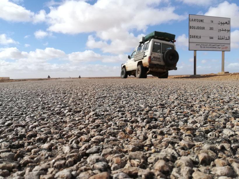 Nur noch 544 km bis Dakhla