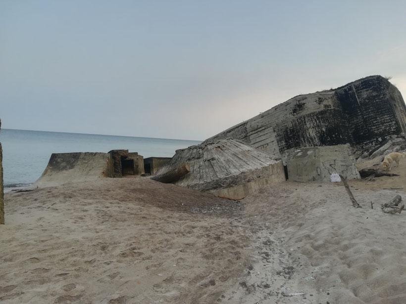 Verfallene Bunker aus dem Zweiten Weltkrieg