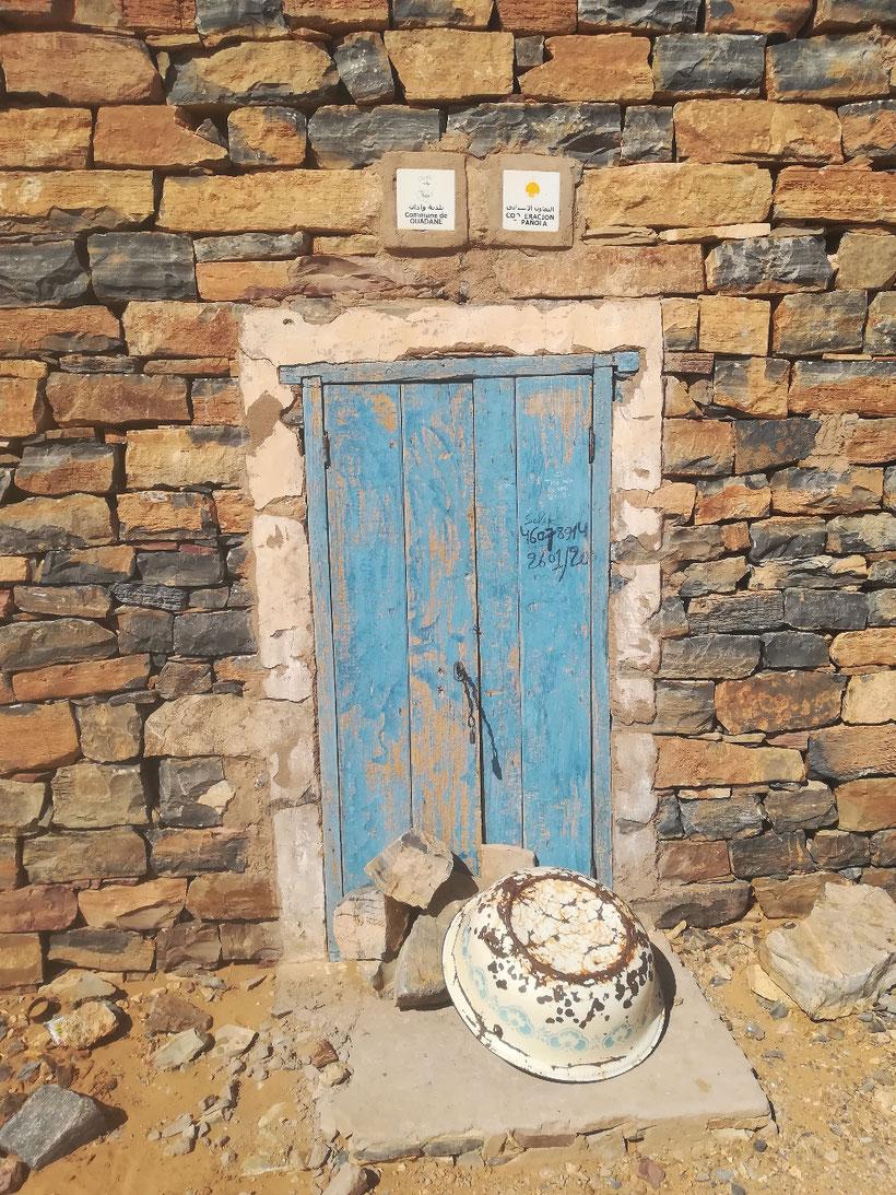 Steinhaus der Gemeinde Ouadane im Zentrum