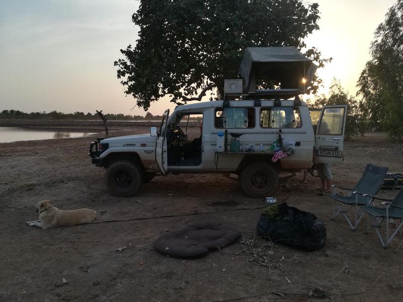 Unser Biwak am See