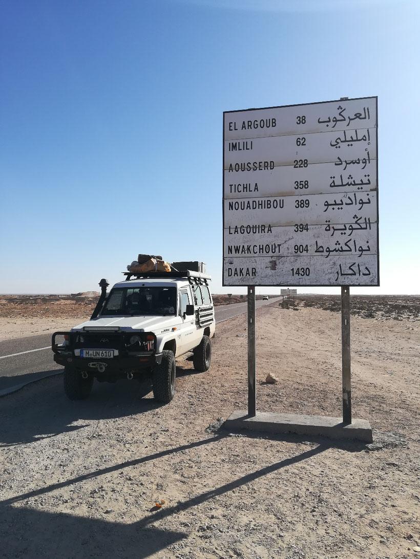 Nur noch 904 Kilometer bis nach Nouakchott